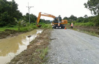 Drainage Clearing by Excavator